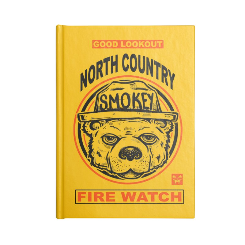North Country Fire Watch Accessories Notebook by Brad Leiby Art