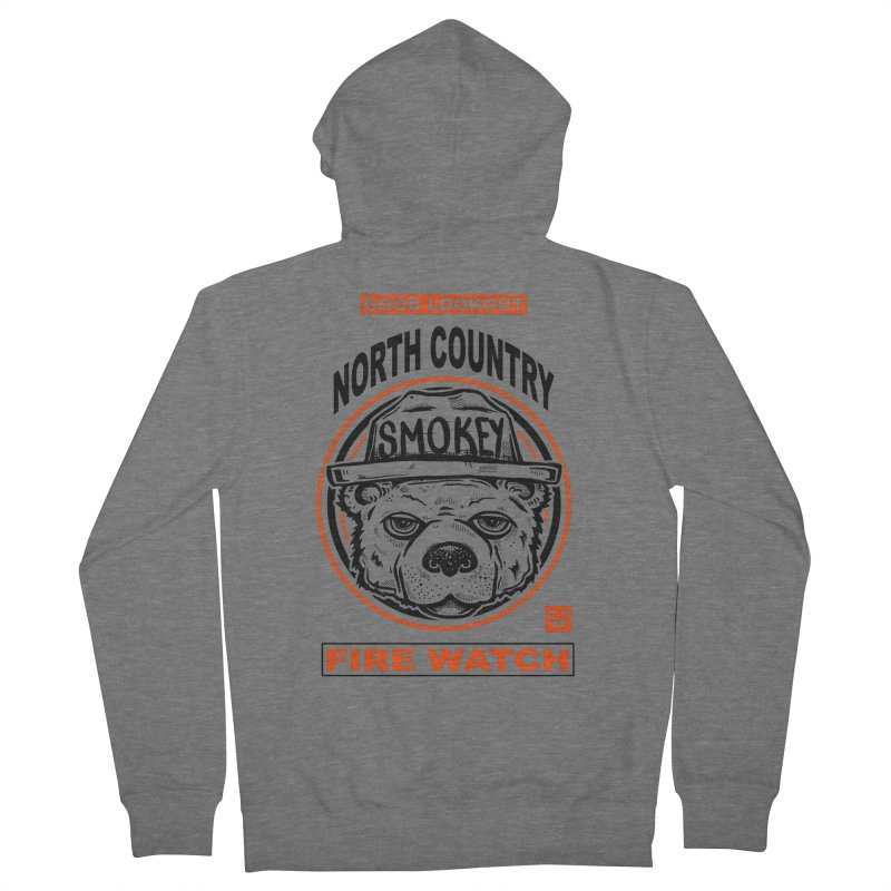 North Country Fire Watch Men's Zip-Up Hoody by Brad Leiby Art