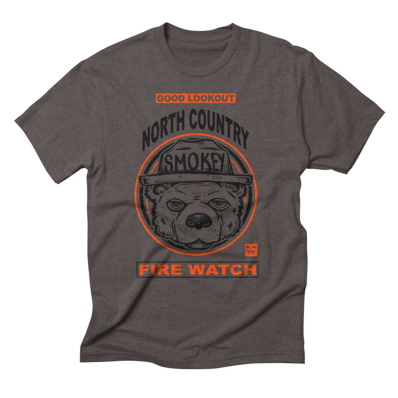 North Country Fire Watch Men's T-Shirt by Brad Leiby Art