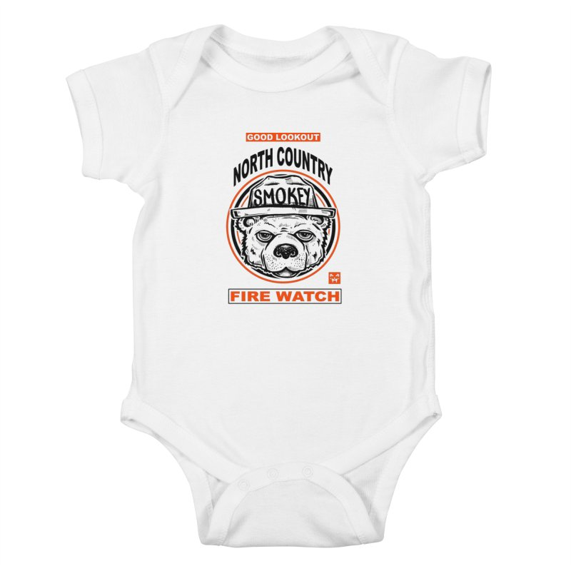 North Country Fire Watch Kids Baby Bodysuit by Brad Leiby Art
