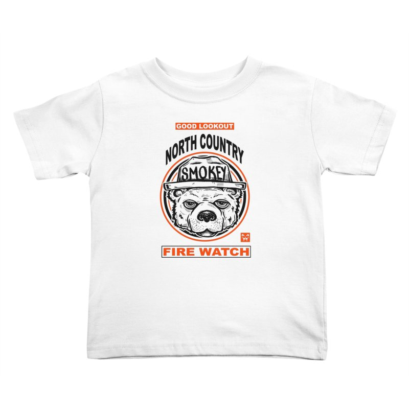 North Country Fire Watch Kids Toddler T-Shirt by Brad Leiby Art