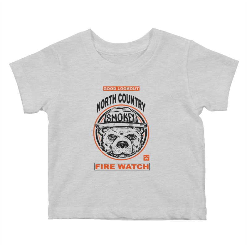 North Country Fire Watch Kids Baby T-Shirt by Brad Leiby Art