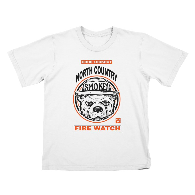 North Country Fire Watch Kids T-Shirt by Brad Leiby Art