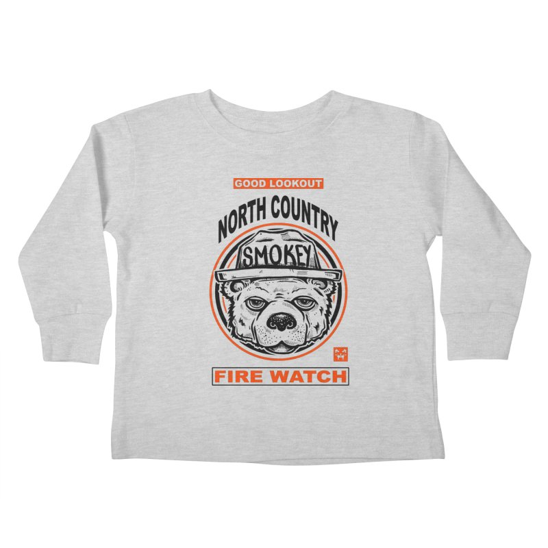 North Country Fire Watch Kids Toddler Longsleeve T-Shirt by Brad Leiby Art