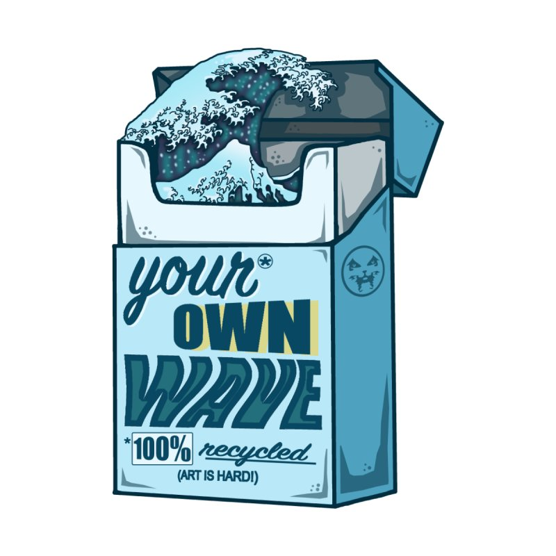 Your Own Wave Men's Zip-Up Hoody by Brad Leiby Art