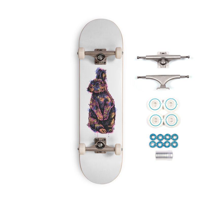 Splatter Bunny Accessories Skateboard by Brad Leiby Art