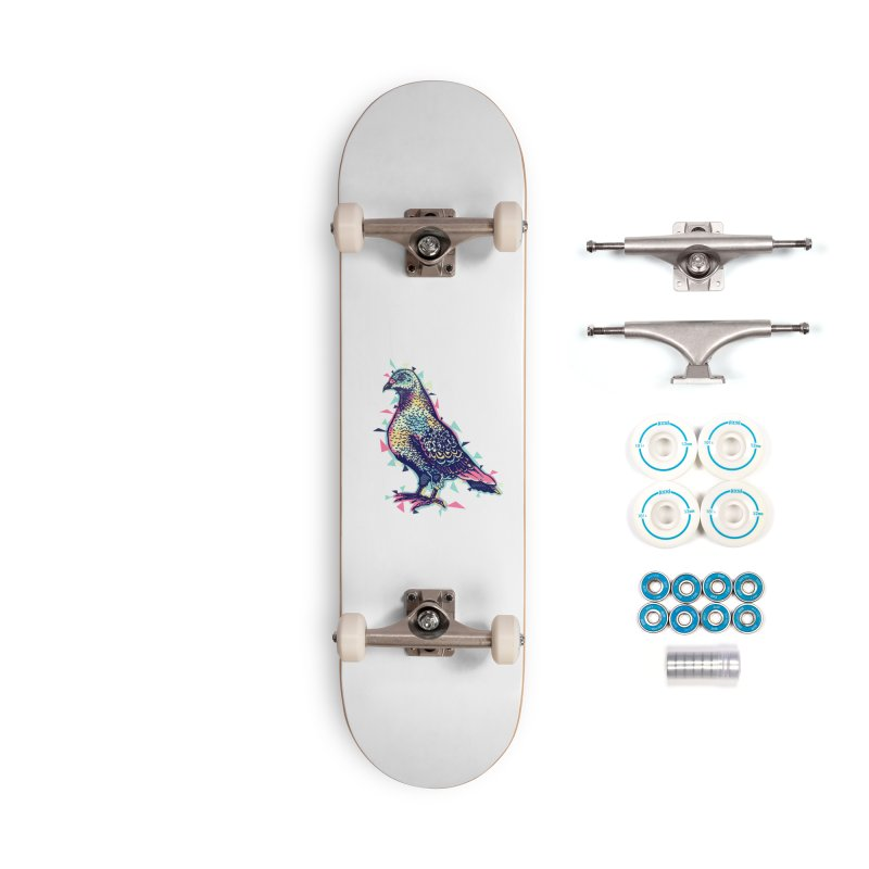 Lossy Pigeon Accessories Skateboard by Brad Leiby Art