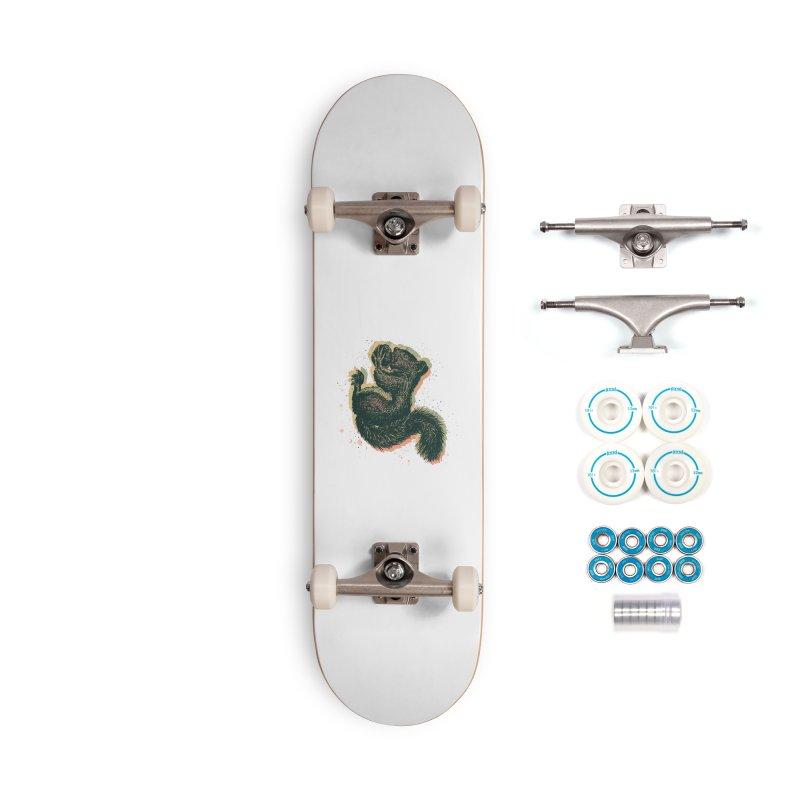 Squirrel Halftone Accessories Skateboard by Brad Leiby Art