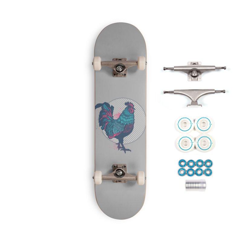 ROOSTER Splatter Accessories Skateboard by Brad Leiby Art