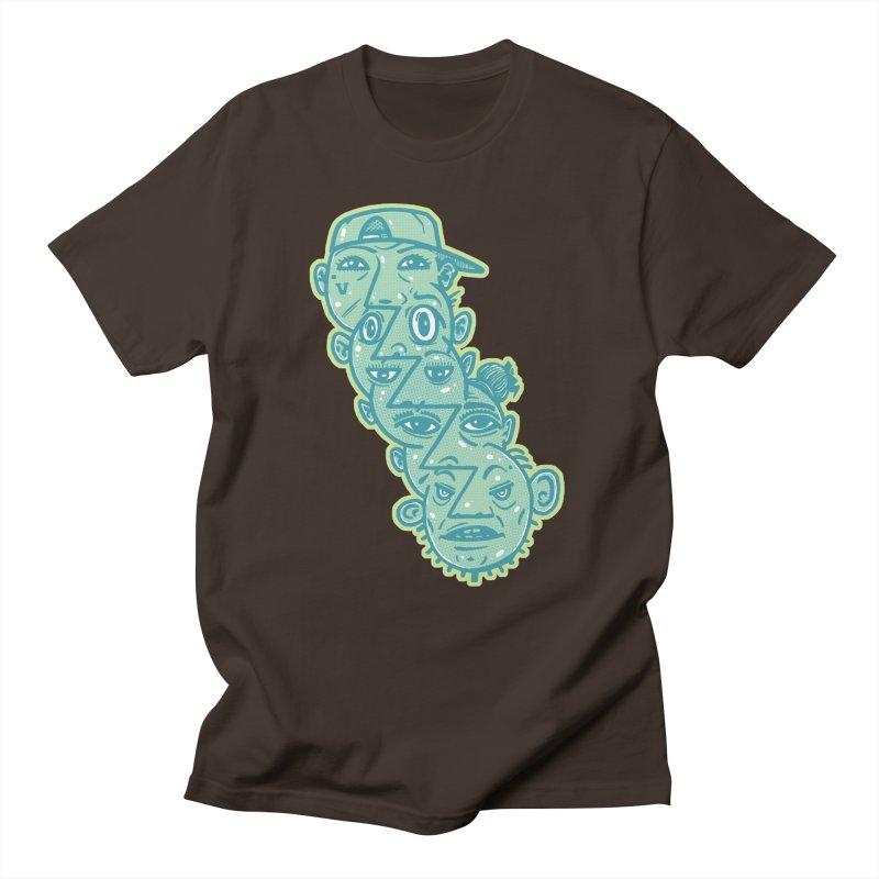Face Tag Men's T-Shirt by Brad Leiby Art