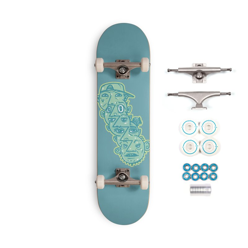 Face Tag Accessories Skateboard by Brad Leiby Art