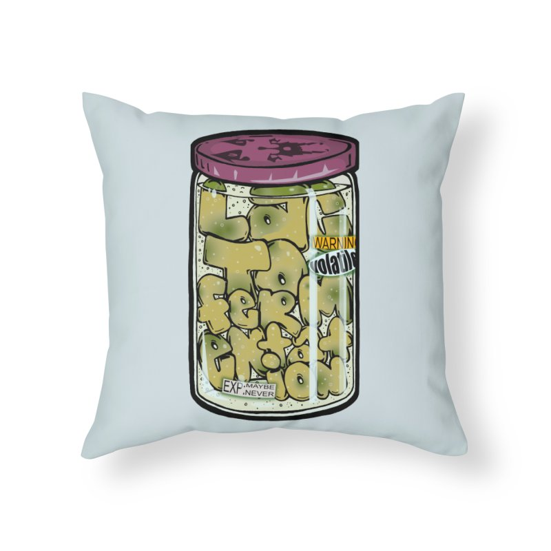 It's Alive! Home Throw Pillow by Brad Leiby Art