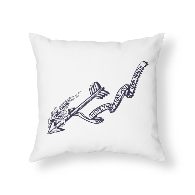 In Good Health Home Throw Pillow by Brad Leiby Art