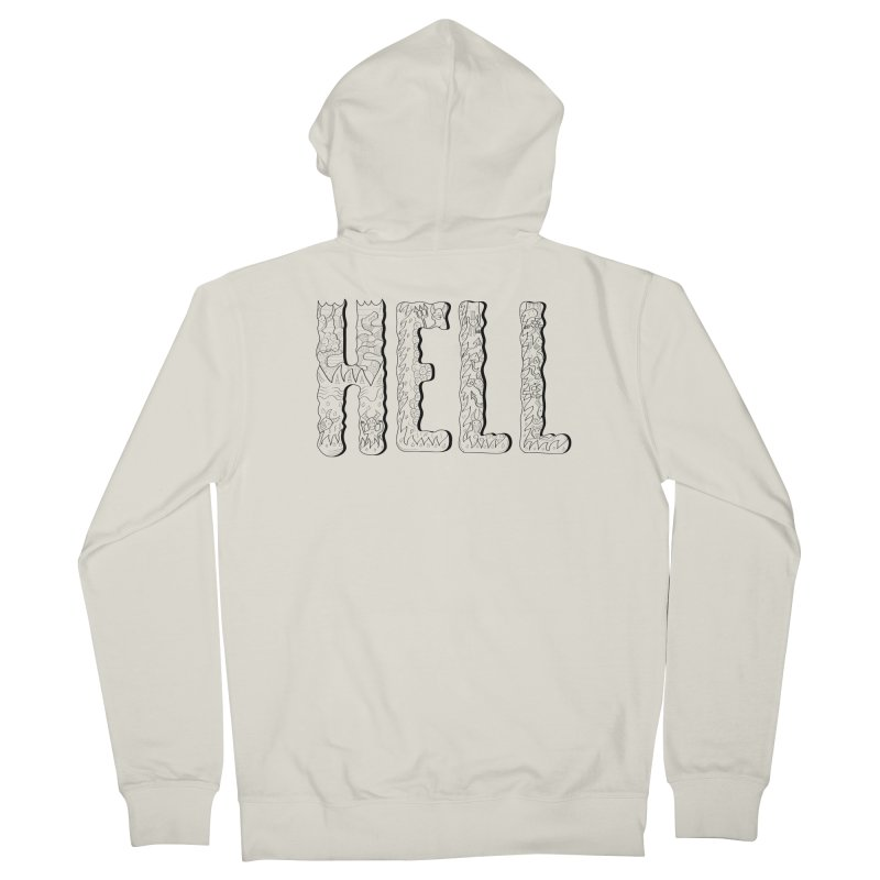 Hell Men's French Terry Zip-Up Hoody by edulobo's Artist Shop
