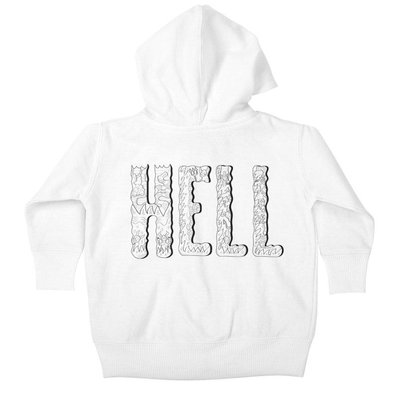 Hell Kids Baby Zip-Up Hoody by edulobo's Artist Shop