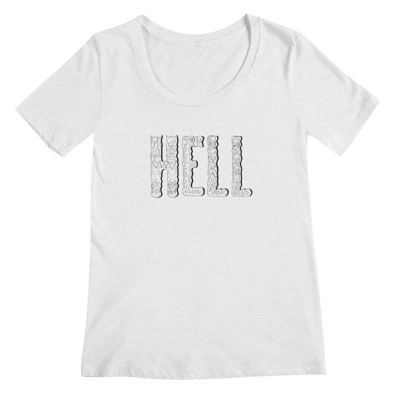 Hell Women's Scoopneck by edulobo's Artist Shop