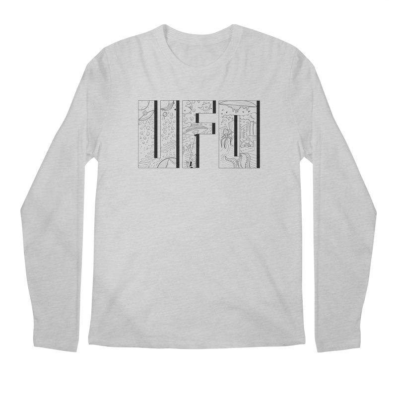 UFO Men's Regular Longsleeve T-Shirt by edulobo's Artist Shop