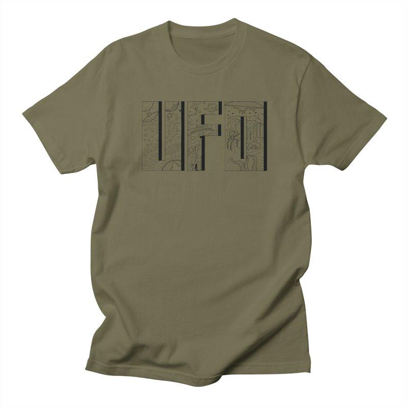 UFO Men's Regular T-Shirt by edulobo's Artist Shop