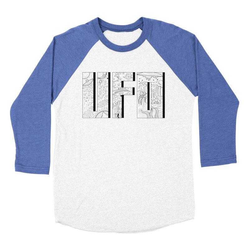 UFO Women's Baseball Triblend Longsleeve T-Shirt by edulobo's Artist Shop