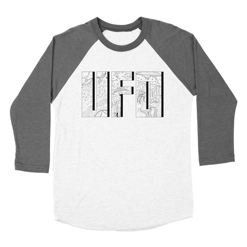 UFO Men's Baseball Triblend Longsleeve T-Shirt by edulobo's Artist Shop