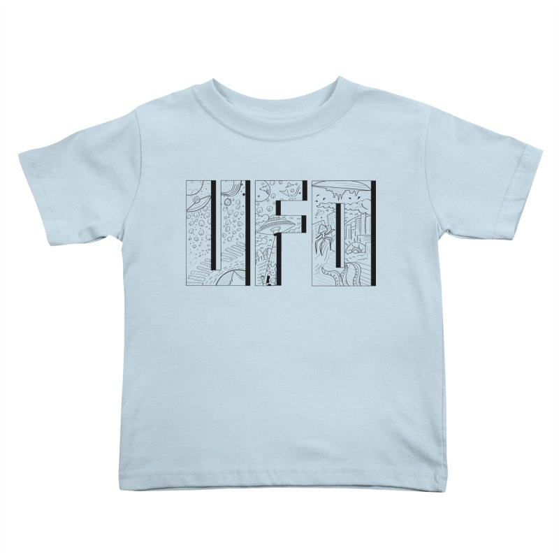 UFO Kids Toddler T-Shirt by edulobo's Artist Shop