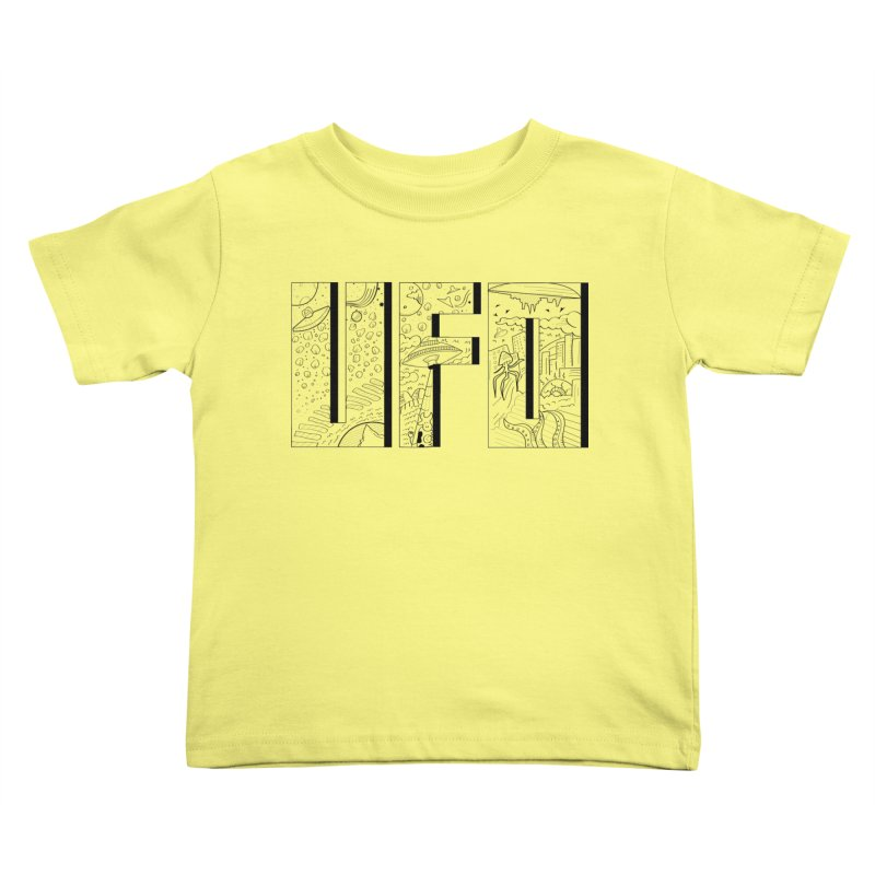 UFO Kids Toddler T-Shirt by edulobo's Artist Shop