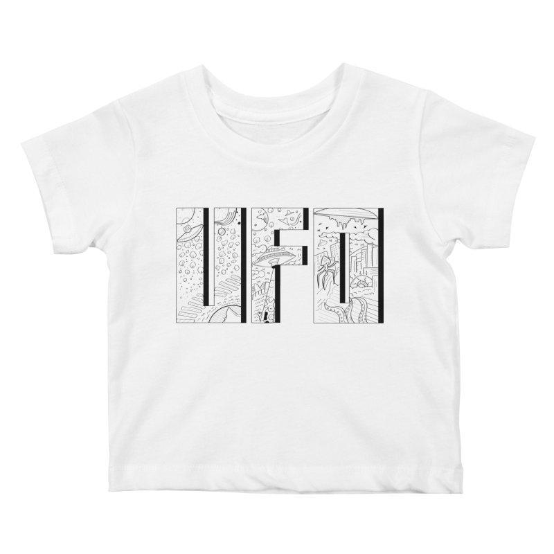 UFO Kids Baby T-Shirt by edulobo's Artist Shop