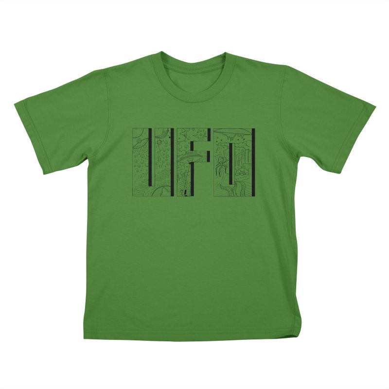 UFO Kids T-shirt by edulobo's Artist Shop