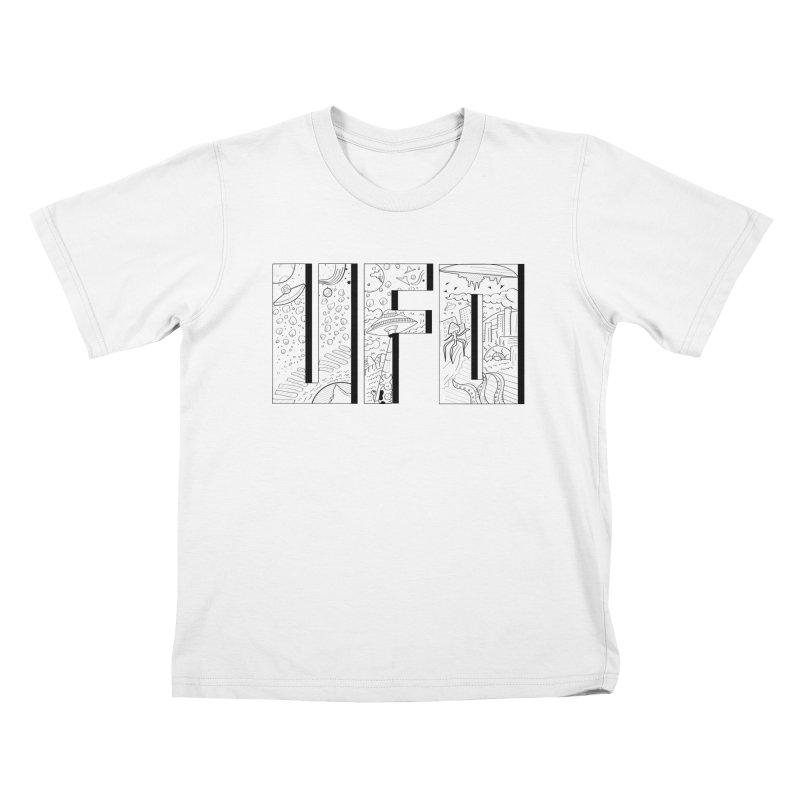 UFO Kids T-Shirt by edulobo's Artist Shop