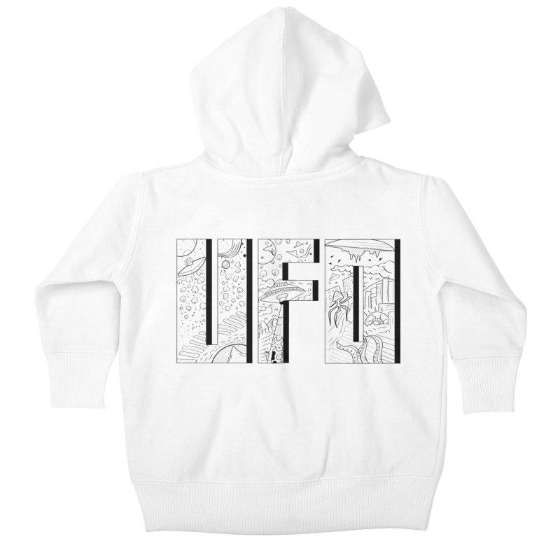 UFO Kids Baby Zip-Up Hoody by edulobo's Artist Shop