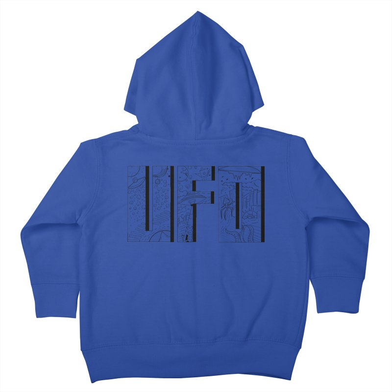 UFO Kids Toddler Zip-Up Hoody by edulobo's Artist Shop