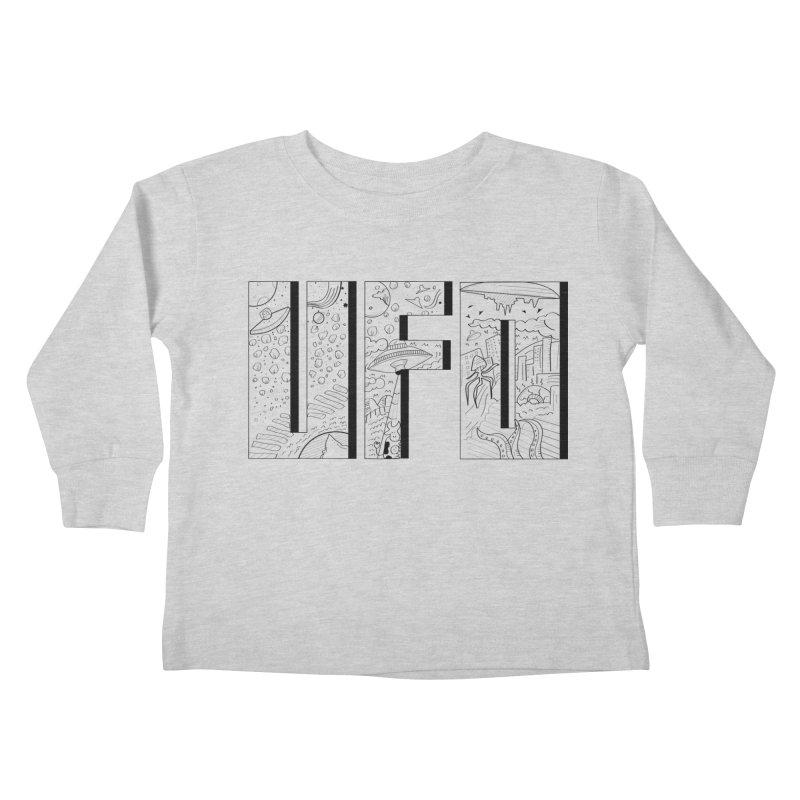 UFO Kids Toddler Longsleeve T-Shirt by edulobo's Artist Shop