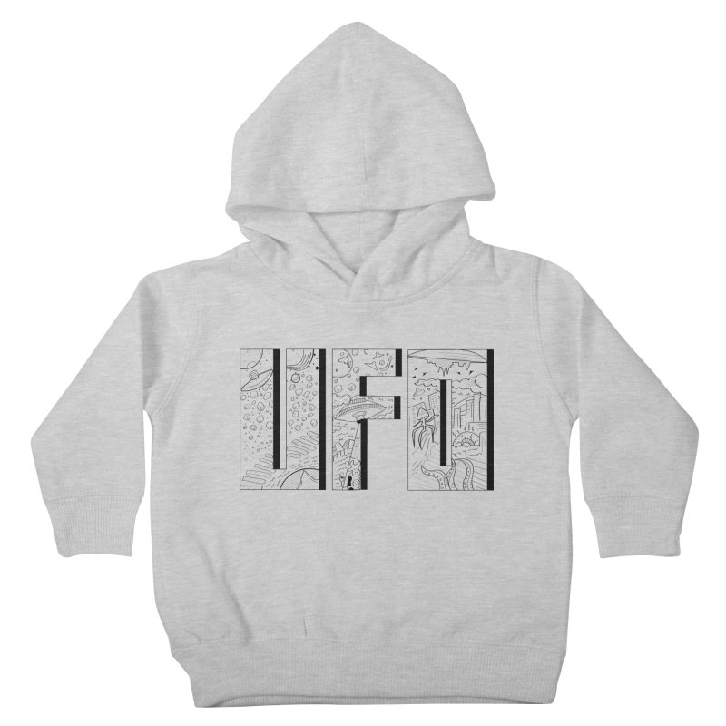 UFO Kids Toddler Pullover Hoody by edulobo's Artist Shop