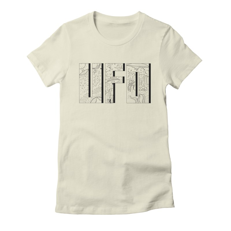 UFO Women's Fitted T-Shirt by edulobo's Artist Shop
