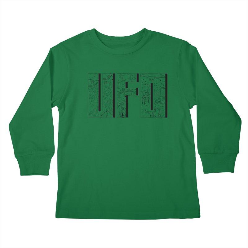 UFO Kids Longsleeve T-Shirt by edulobo's Artist Shop
