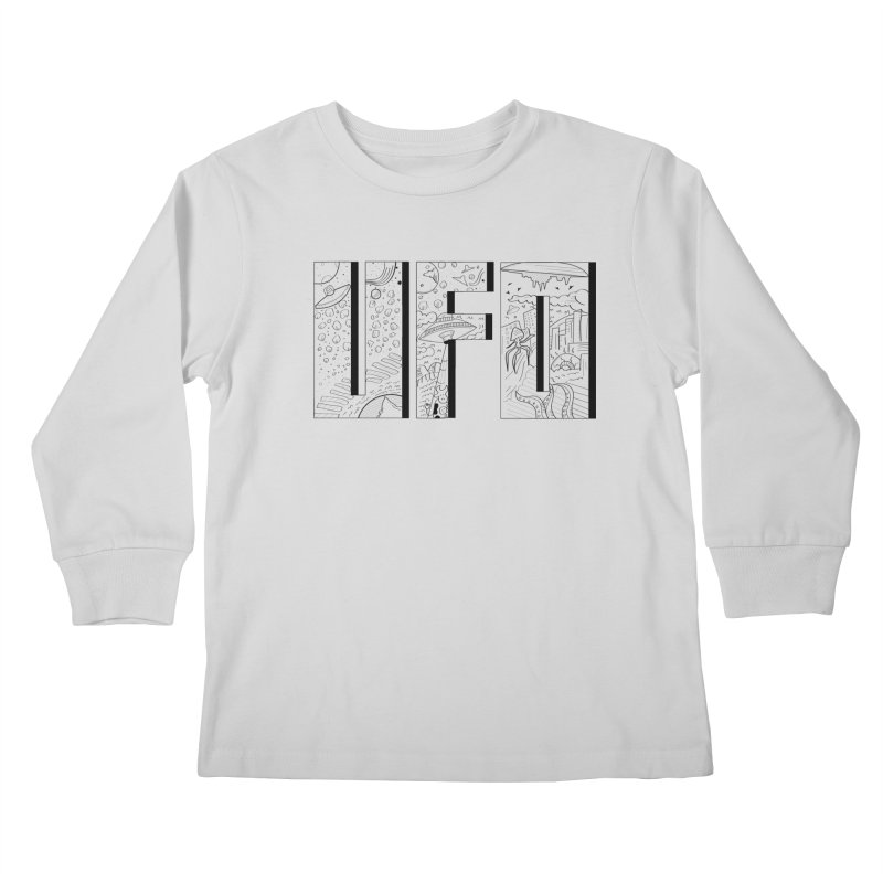 UFO Kids Longsleeve T-Shirt by edulobo's Artist Shop