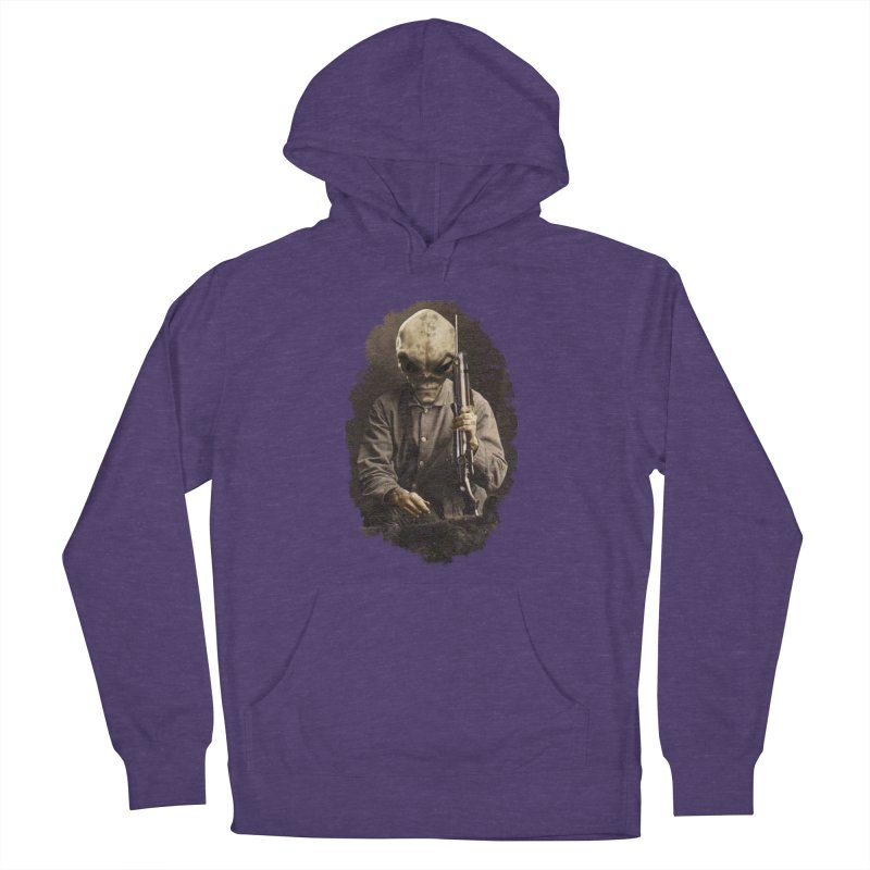 Hunter Men's French Terry Pullover Hoody by edulobo's Artist Shop
