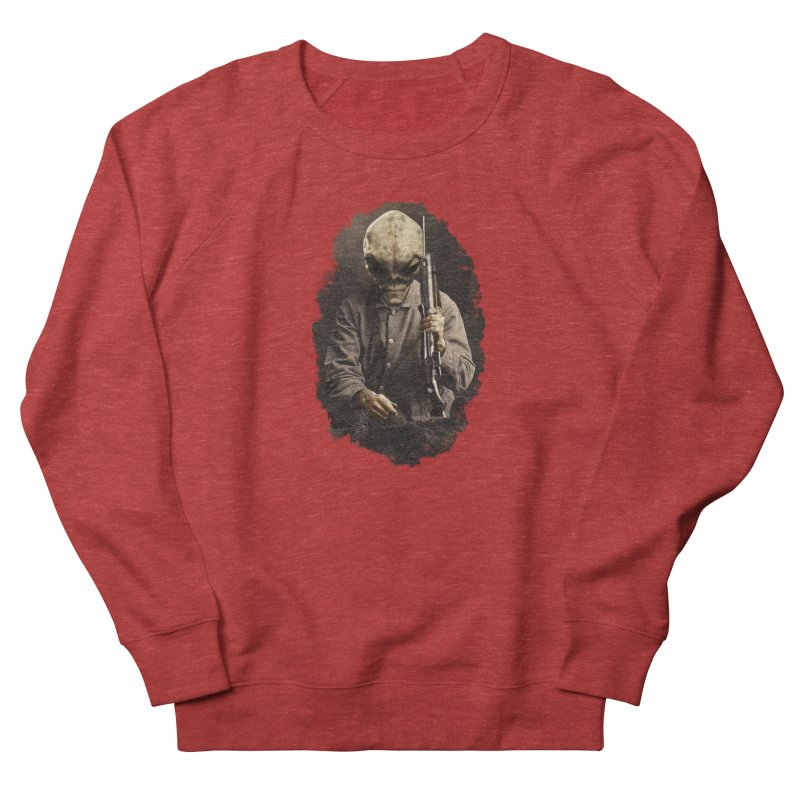 Hunter Men's French Terry Sweatshirt by edulobo's Artist Shop