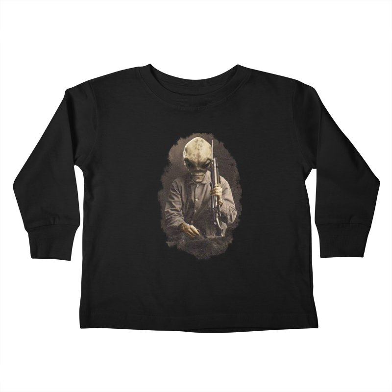 Hunter Kids Toddler Longsleeve T-Shirt by edulobo's Artist Shop