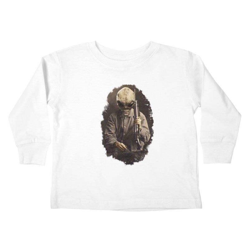 Hunter Kids Toddler Longsleeve T-Shirt by edulobo's Artist Shop