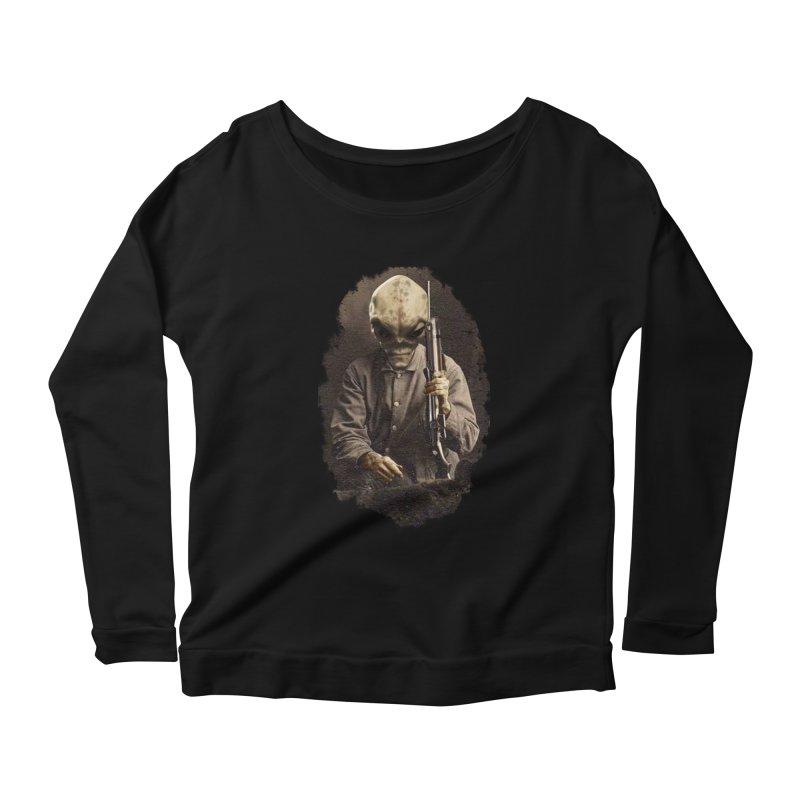 Hunter Women's Scoop Neck Longsleeve T-Shirt by edulobo's Artist Shop