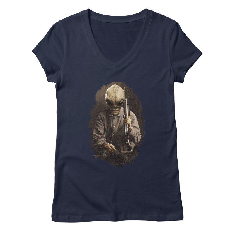 Hunter Women's V-Neck by edulobo's Artist Shop