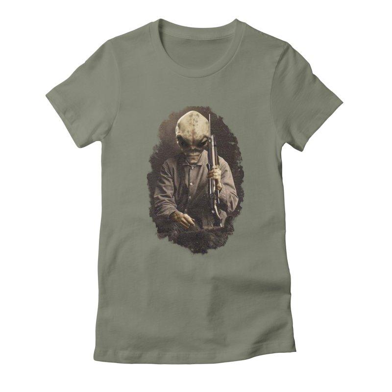 Hunter Women's Fitted T-Shirt by edulobo's Artist Shop