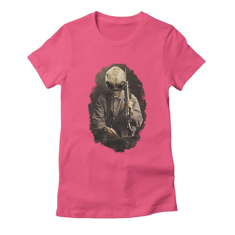Hunter Women's Fitted T-Shirt by edulobo's Artist Shop