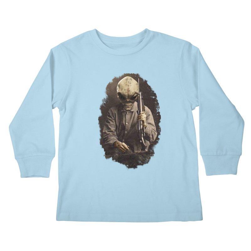 Hunter Kids Longsleeve T-Shirt by edulobo's Artist Shop