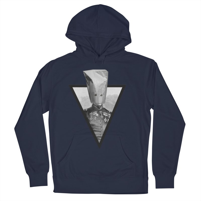 paper bag head Women's French Terry Pullover Hoody by edulobo's Artist Shop