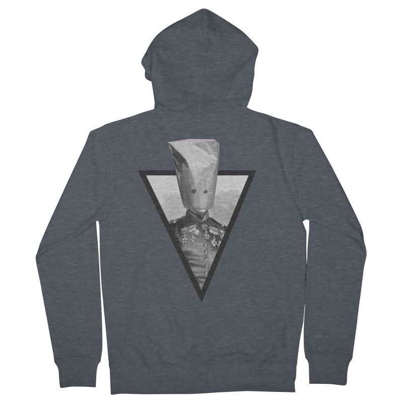 paper bag head Men's Zip-Up Hoody by edulobo's Artist Shop