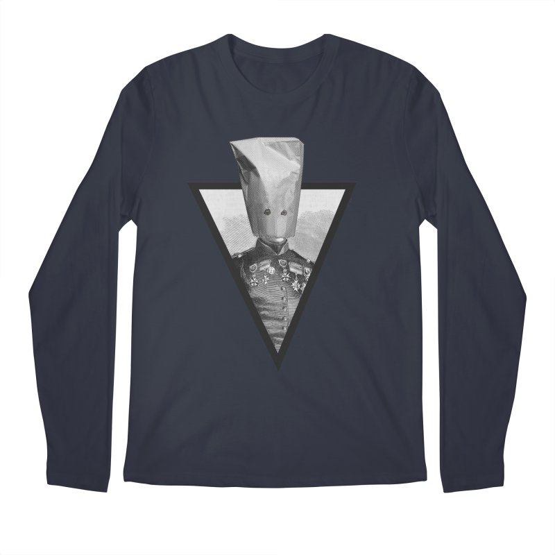 paper bag head Men's Longsleeve T-Shirt by edulobo's Artist Shop