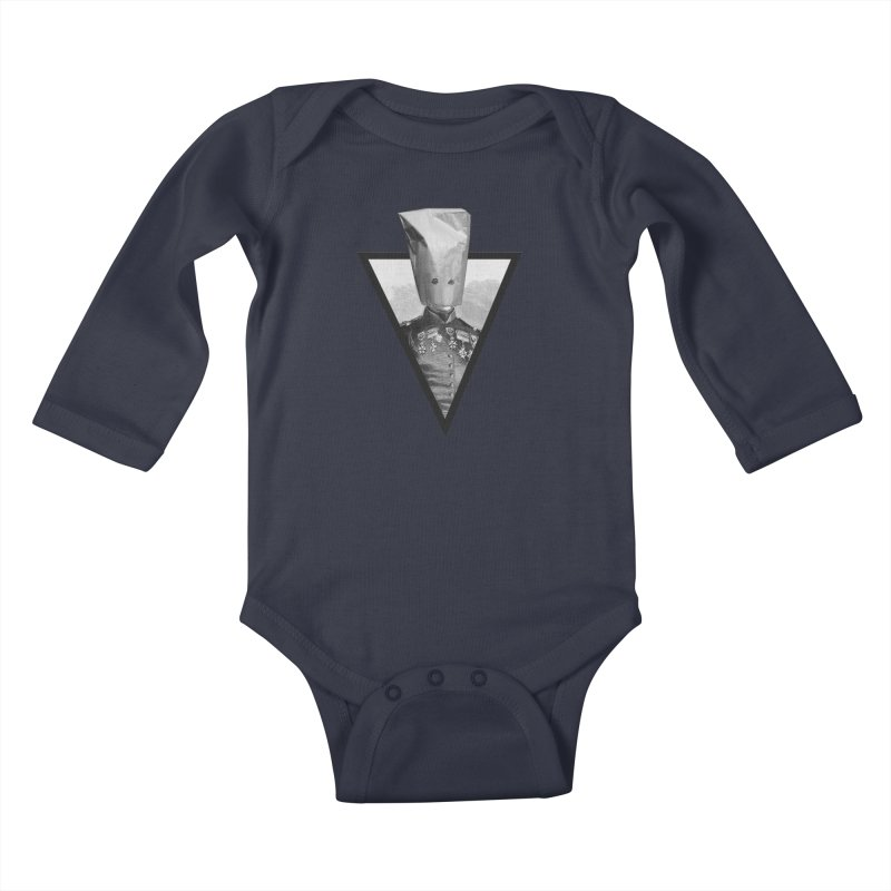 paper bag head Kids Baby Longsleeve Bodysuit by edulobo's Artist Shop