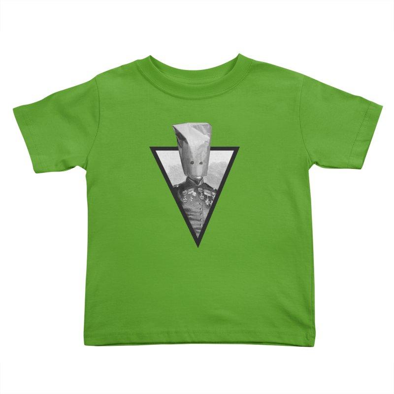 paper bag head Kids Toddler T-Shirt by edulobo's Artist Shop